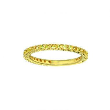 14K Gold Yellow Sapphire Prong Set Stackable Band