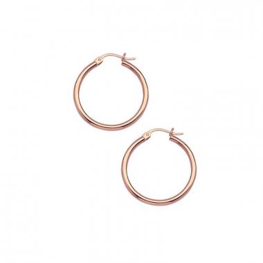 14K Rose Gold 25MM Hoop Earrings