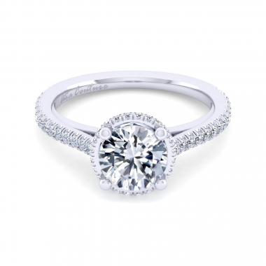 14K White Gold 1-9/10ctw Atia Couture Engagement Ring