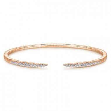 14K Rose Gold 1/2ctw Diamond Bangle Bracelet