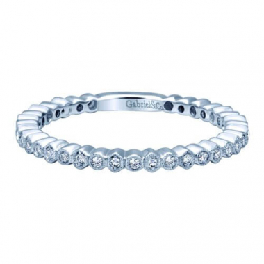 14K White Gold Eternity Stackable Fashion Ring