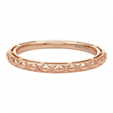 14K Rose Gold Stackable Fashion Ring