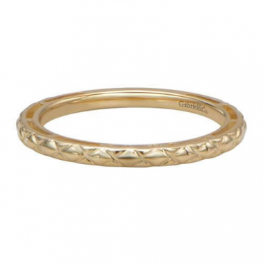 14k Yellow Gold Stackable Fashion Ring