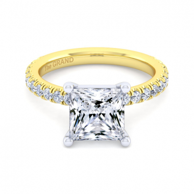14K Yellow Gold 3-3/8ctw Grand Collection Engagement Ring