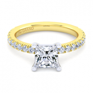 14K Yellow Gold 1-7/8ctw Grand Collection Engagement Ring