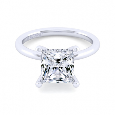 14K White Gold 3-1/10ctw Grand Collection Engagement Ring