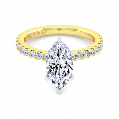 14K Yellow Gold 2-1/2ctw Grand Collection Engagement Ring