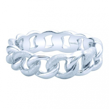 Sterling Silver Linked Stackable Fashion Ring