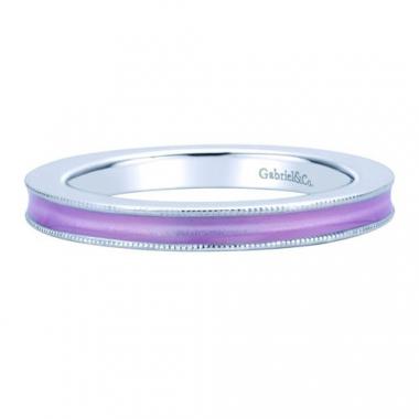 Sterling Silver Pink Enamel Stackable Ring