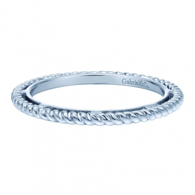 Sterling Silver Braided Stackable Fashion Ring