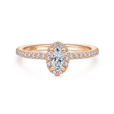 14K Rose Gold 5/8ctw Atia Collection Engagement Ring