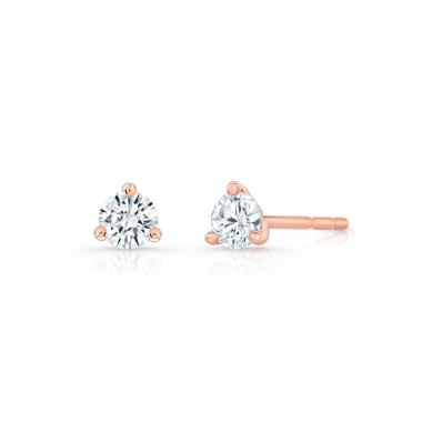 14K Rose Gold 1/4ctw ECO4 Lab Grown Diamond Solitaire Earrings