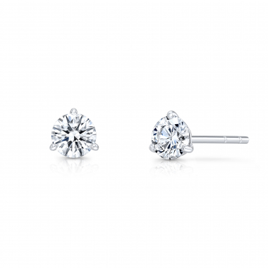 14K White Gold 3/4 ctw ECO4 Lab Grown Diamond Solitaire Earrings