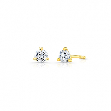14K Yellow Gold 1/5ctw ECO4 Lab Grown Diamond Solitaire Earrings