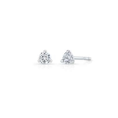 14K White Gold 1/7ctw ECO4 Lab Grown Diamond Solitaire Earrings
