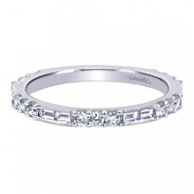 14K White Gold Stackable Fashion Ring