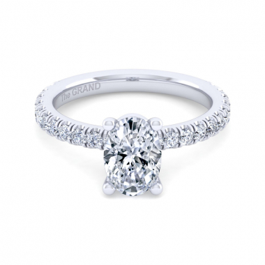 14K White Gold 1-7/8ctw Grand Collection Engagement Ring