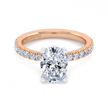14K Rose Gold 2-3/8ctw Grand Collection Engagement Ring