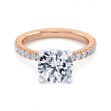 14K Rose Gold 3-3/8ctw Grand Collection Engagement Ring