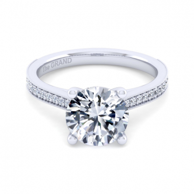 14K White Gold 3-1/5ctw Grand Collection Engagement Ring