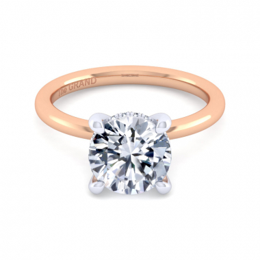 14K Rose Gold 3-1/10ctw Grand Collection Engagement Ring