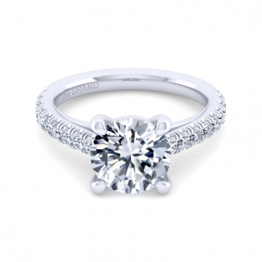 14K White Gold 3-1/2ctw Grand Collection Engagement Ring