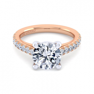 14K Rose Gold 3-1/2ctw Grand Collection Engagement Ring