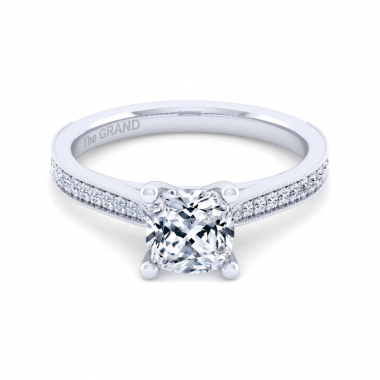 14K White Gold 1-2/3ctw Grand Collection Engagement Ring