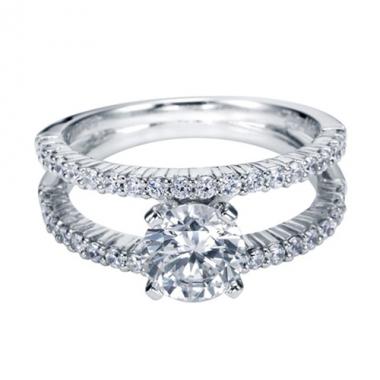 14K White Gold Split Shank Style Engagement Ring