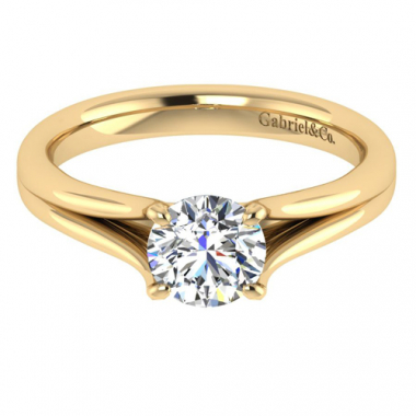 14K Yellow Gold Solitaire Engagement Ring