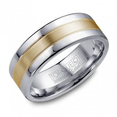 Cobalt and 14K Yellow Gold 7.5 MM Band
