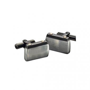 Stainless Steel Contemporary Steel Cuff Links