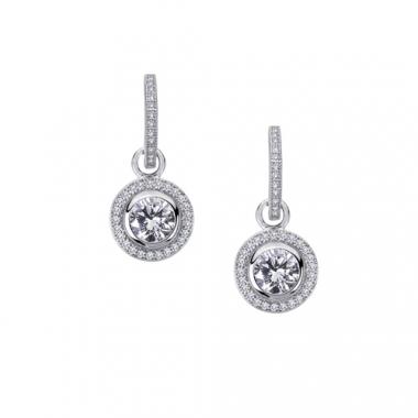 Sterling Silver Simulated Diamond Drop Earrings