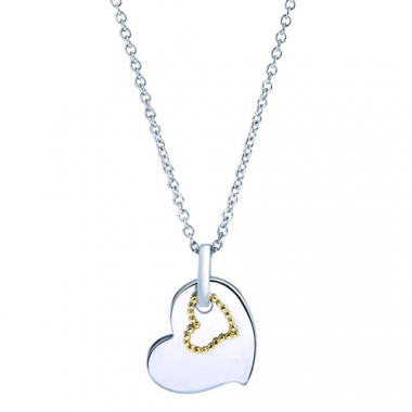 Sterling Silver and Yellow Gold Heart Pendant