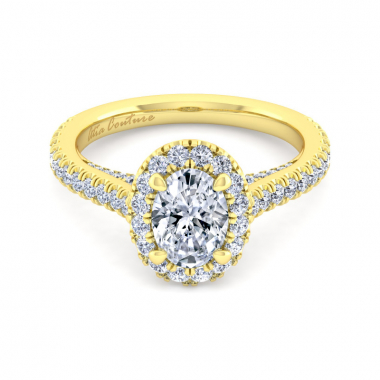 14K Yellow Gold 1-4/5ctw Atia Couture Engagement Ring