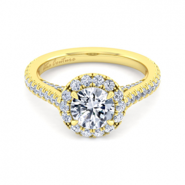 14K Yellow Gold 2ctw Atia Couture Engagement Ring