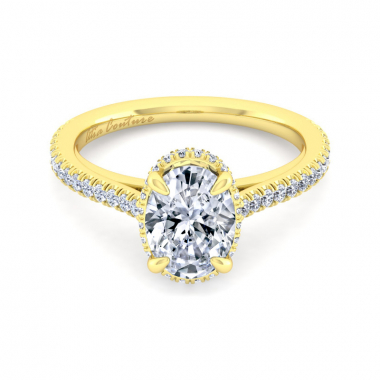 14K Yellow Gold 1-7/8ctw Atia Couture Engagement Ring