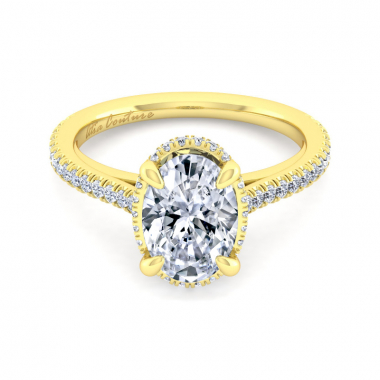 14K Yellow Gold 2-3/8ctw Atia Couture Engagement Ring