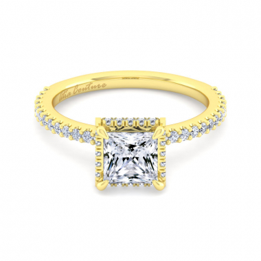 14K Yellow Gold 1-5/8ctw Atia Couture Engagement Ring