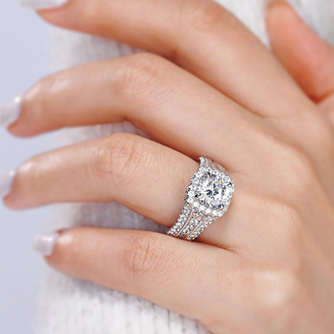 engagement ring on a hand